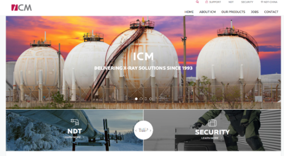 ICM x-ray new website is online